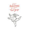 dancing santa claus cute vector image vector image