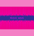 digital pulse music player background dynamic vector image