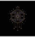 dream catcher element traditional american vector image vector image
