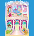 Fairytale Luxury Princess House vector image