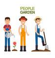 farmer gardener cartoon people vector image vector image