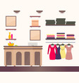 female shop interior colorful vector image vector image