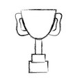 figure cup prize symbol to winner of competition vector image vector image