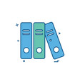 file folder document icon design vector image
