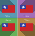 Flags MyanmarBurma Set of colors flat design and vector image