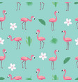 flamingo pattern - trendy seamless pattern in flat vector image vector image