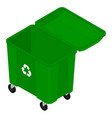 garbage trash container vector image vector image