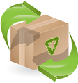 green arrows on box vector image vector image