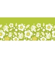 Green kimono florals horizontal seamless pattern vector image vector image