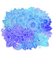 Hand drawn doodle flowers with watercolor texture vector image vector image