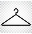 hanger icon wardrobe hander flat simple business vector image vector image