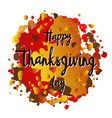 happy thanksgiving day logotype postcard poster vector image