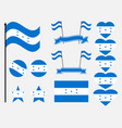 honduran flag set symbols flag in heart vector image