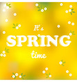 It is spring time words vector image vector image