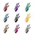 kitchen knives icon in black style isolated on vector image