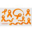 leukemia awareness month orange color ribbon vector image vector image