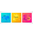 liquid color backgrounds set vector image vector image