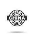 made in china stamp on white background vector image vector image