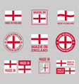 made in england labels set in england vector image vector image