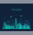 matera skyline basilicata southern italy a vector image vector image