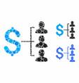 money recipients composition icon spheric items vector image vector image