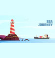 nautical cartoon background vector image vector image