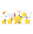 people with golden stars flat vector image vector image