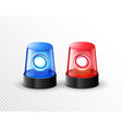 red blue flashing police beacon alarm police vector image
