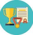 Rewards achievements awards concept Flat design