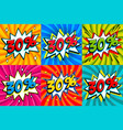 sale set sale thirty percent 30 off tags on a vector image vector image