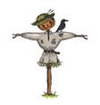 scarecrow color sketch engraving vector image