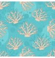 seamless pattern with beige coral vector image vector image