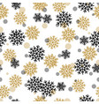 seamless pattern with snowy snowflakes and circles vector image