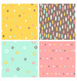 Set 4 seamless patterns