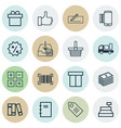 set of 16 commerce icons includes ticket vector image vector image
