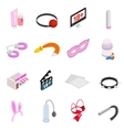 Sex icons isometric 3d style vector image