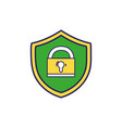 shield protection with padlock symbol security vector image