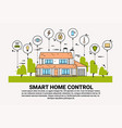 smart home control infographic banner building vector image vector image