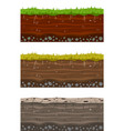 soil ground layers seamless ground earth drying vector image