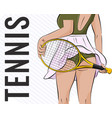 sport girl tennis athlete vector image vector image