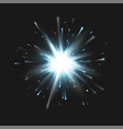 stock white explosion isolated vector image