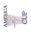 the america s cup text background word cloud vector image vector image