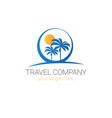 travel company logo template tourism agency vector image vector image