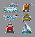 travel transport stickers vector image vector image