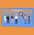 various business career character choice challenge vector image vector image