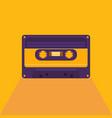 vintage audio cassette vector image vector image