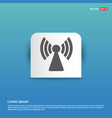 wifi icon - blue sticker button vector image