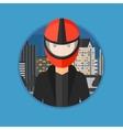 Woman in biker helmet vector image vector image
