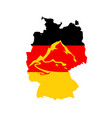 flag of germany with caption - german alps vector image
