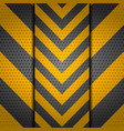 metallic perforated danger sign background vector image